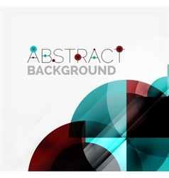 Geometric design abstract background - circles vector