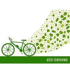 Eco driving concept in green colors vector