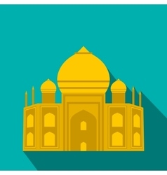 Taj mahal india icon flat style vector