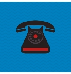 Phone design retro icon colorful vector