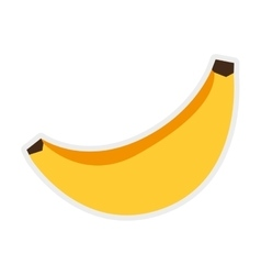 Banana icon healthy and organic food vector