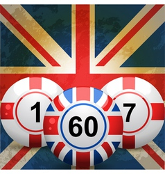 British bingo balls vector
