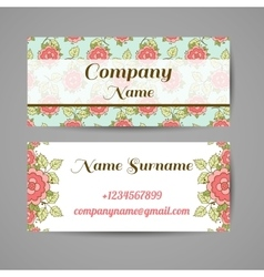 Business card with roses vector
