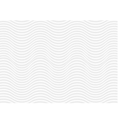 abstract white waves and lines pattern vector image vector image