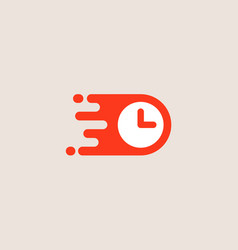 Clock logotype time management logo design vector