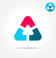Delta letter sign triangle shape with smoth edges vector