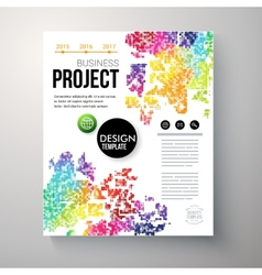 Design template for a business project vector