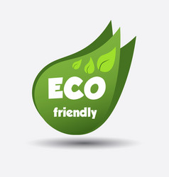 Eco friendly green leaf flat vector