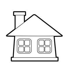 Facade house city vector