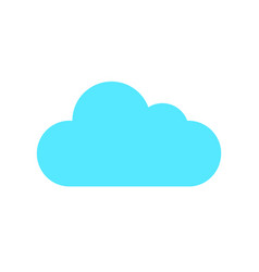 flat color cloud icon vector image vector image