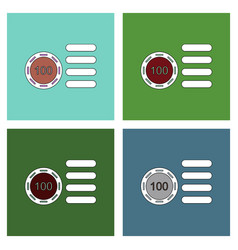 Flat icon design collection casino stuff chip vector