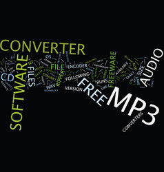 Free mp converter text background word cloud vector