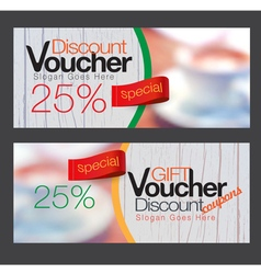 Gift voucher and discount voucher template vector image vector image