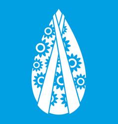 Memorial wreath icon white vector