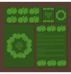Menu template doodle of artichoke vector image vector image