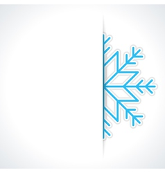 Merry Christmas card and snowflake vector image