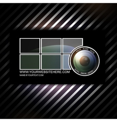 photographer business card template with vector image
