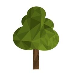 Polygon texture tree icon vector