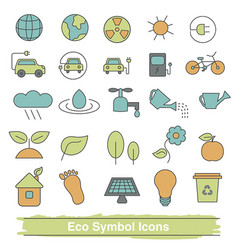set of eco line icons set of eco line icons vector image vector image