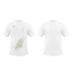 set of of a white t-shirt vector image vector image