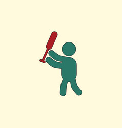 Silhouette of a baseball player vector