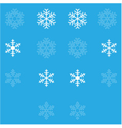 snowflakes set white color for holidays vector image vector image