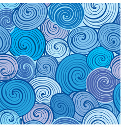 Water wave seamless pattern abstract geometric vector