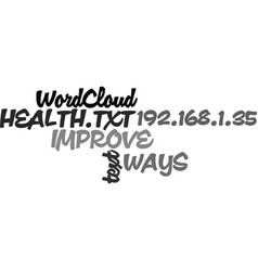 Ways to improve your health text word cloud vector