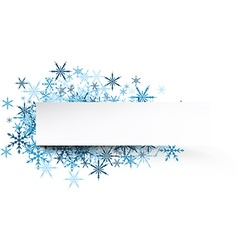 Winter banner with blue snowflakes vector