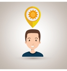 Man pin travel location vector
