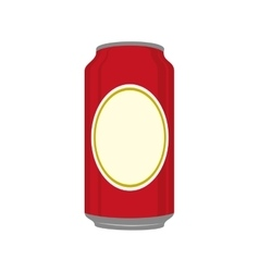 Icon beer can drink liquid isolated vector