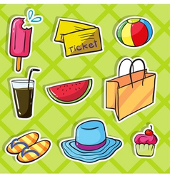 holiday objects vector image