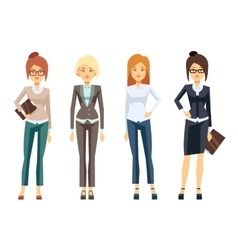 European businesswoman clothes young female vector