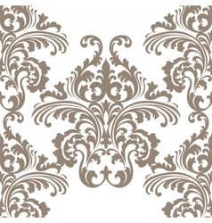 Rococo floral ornament damask pattern vector