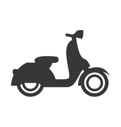Silhouette motorcycle speed delivery vector