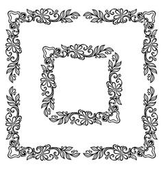 Decorative Floral Frame Ornament vector image