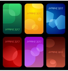 business colorful cards vector image
