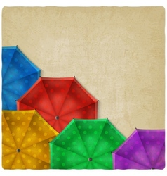 Colored umbrellas background vector