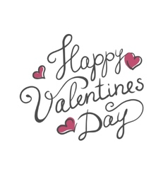 Happy valentines day handmade calligraphy vector