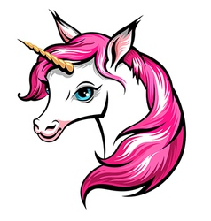 unicorn pink vector image
