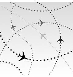 flight paths vector image