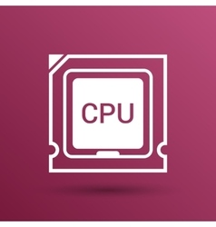 Icon of cpu microprocessor sign symbol process vector