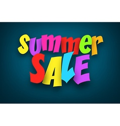 Paper summer sale colorful sign vector