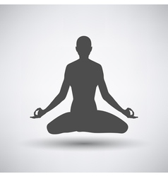 Lotus pose icon vector