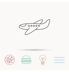 Airplane icon aircraft travel sign vector