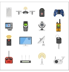 Smart house remote control electronic gadgets vector