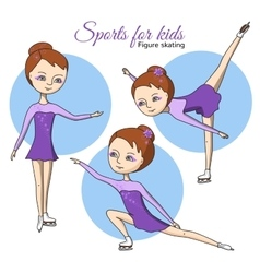 Sports for kids figure skating vector
