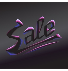 Burning lettering sale vector