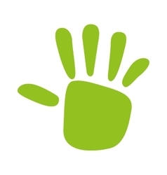 Green hand print isolated icon design vector