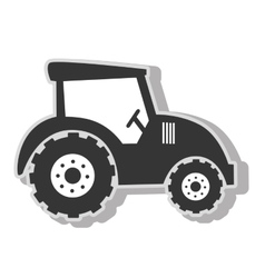 Farm tractor vehicle vector
